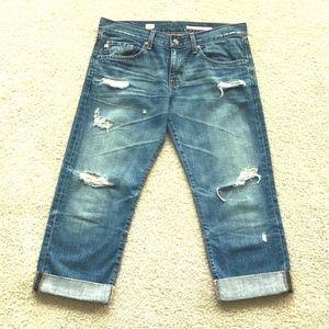 AG Adriano Goldschmied Ex Boyfriend Crop Jeans 28